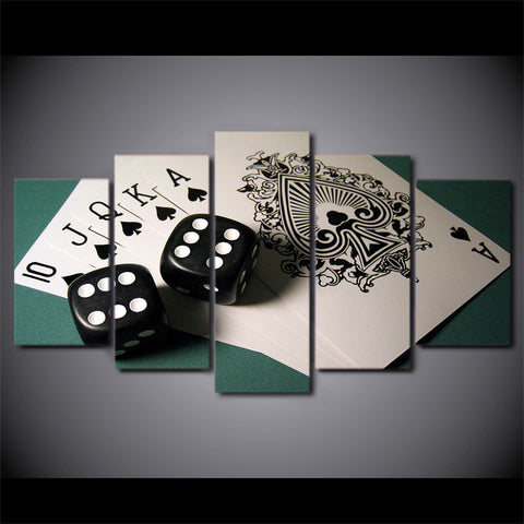 Royal Flush Gambling Poker Canvas
