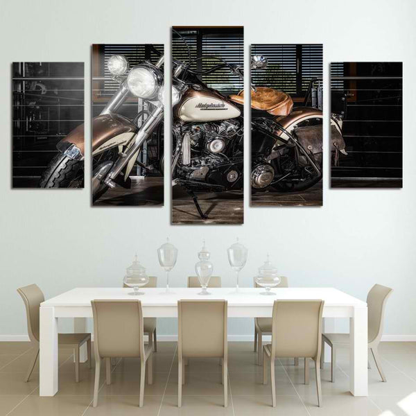 Harley Davidson Motorcylcle Canvas Headlights