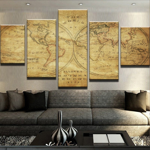 Old World Rustic Map