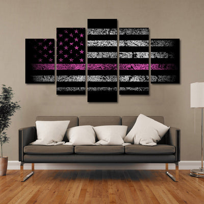 American Flag with Pink Line - The Force Gallery
