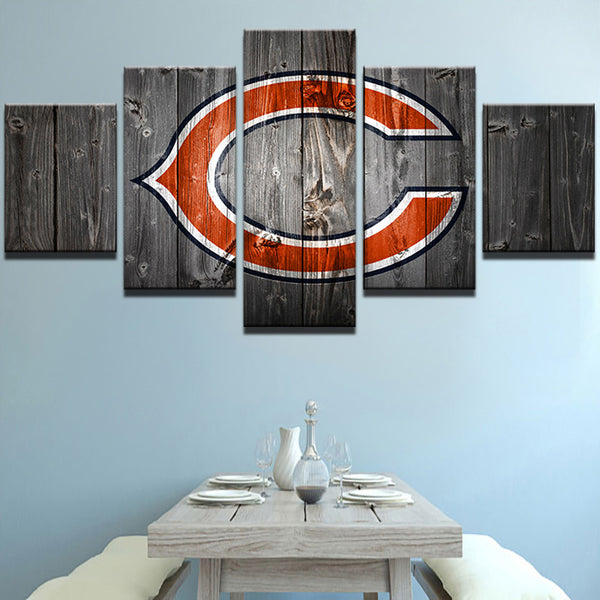 Chicago Bears Barn Wood Style Canvas