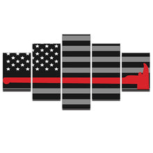Firefighter American Flag with Red Axe - The Force Gallery