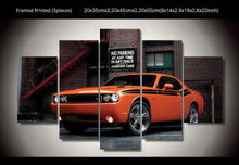 Dodge Challenger Orange Five Piece Canvas Wall Art - The Force Gallery