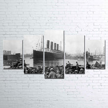 Titanic Ship Dock Five Piece Canvas Home Decor Wall Art - The Force Gallery