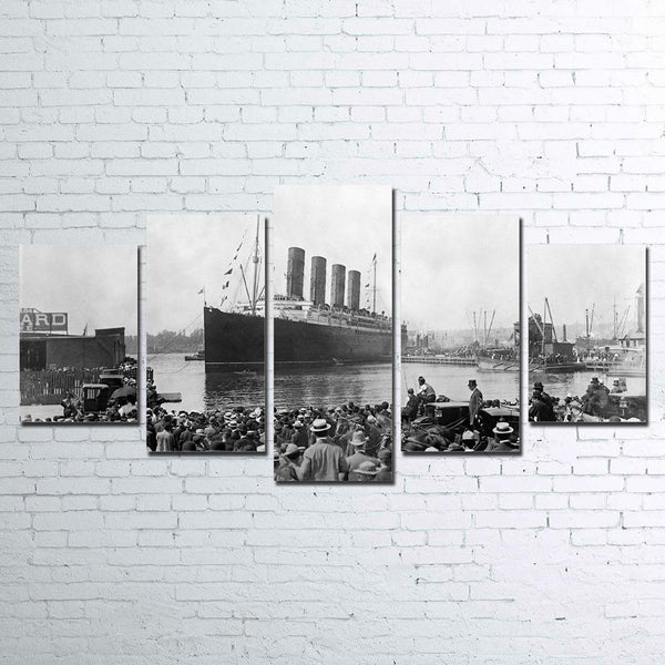 Titanic Ship Dock Five Piece Canvas Home Decor Wall Art
