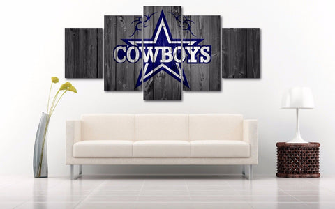 Dallas Cowboys Barn Wood Style Framed Canvas - The Force Gallery