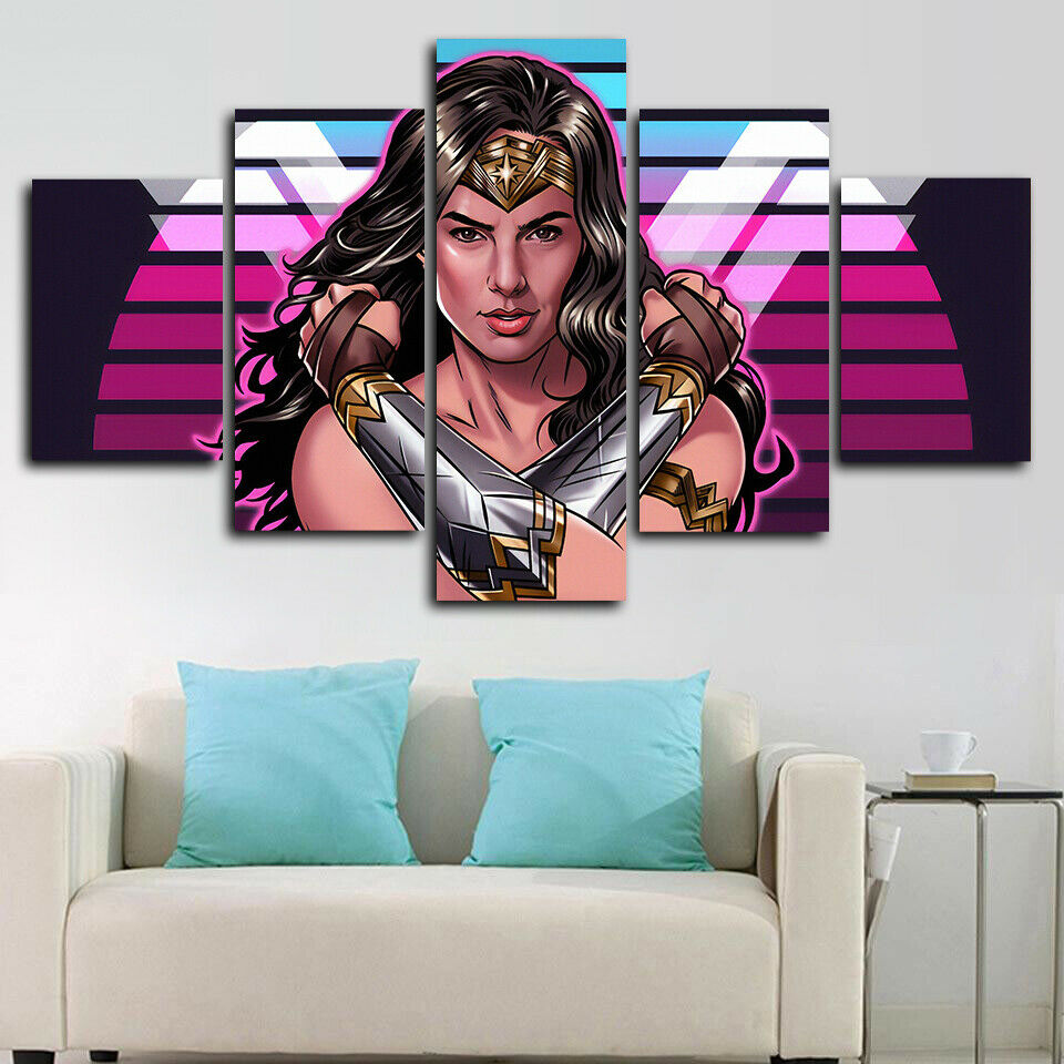 Wonder Woman Marvel Comics Five Piece Canvas Wall Art Home Decor Multi Panel 5 - The Force Gallery