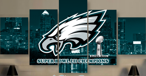 Philadelphia Eagles Super Bowl Champions Five Piece Canvas - The Force Gallery