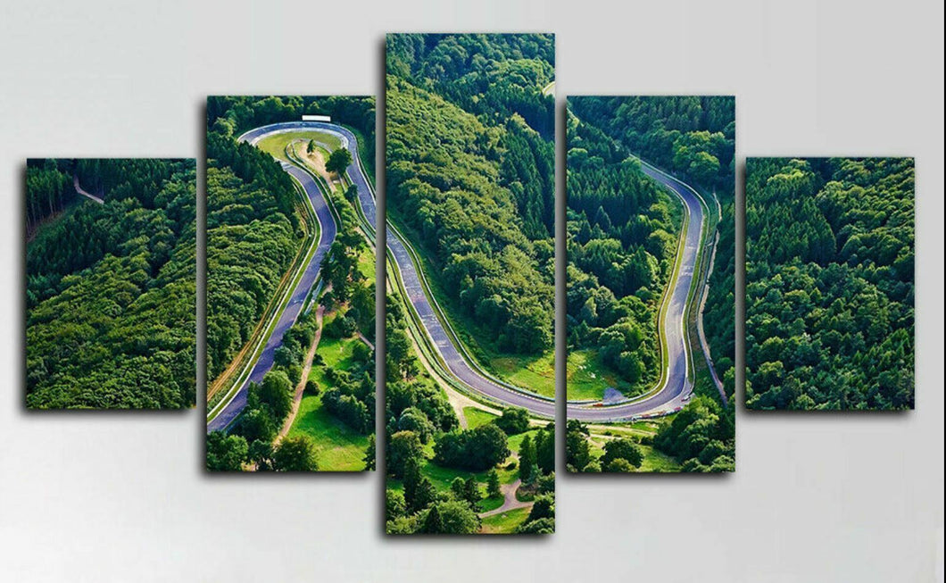 Copy of Nurburgring Track Circuit Rally Racing Five Piece Canvas Wall Art Home Decor Framed