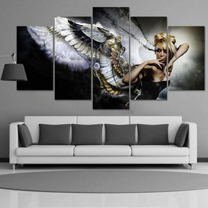 Angel Beautiful Mechanical Five Piece Canvas Wall Art Home Decor Multi Panel - The Force Gallery
