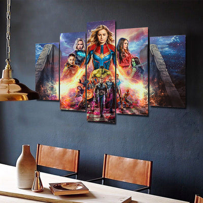 Avengers Endgame Movie Five Piece Canvas Wall Art Home Decor - The Force Gallery