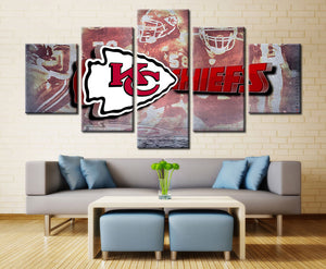 Kansas City Chiefs Super Bowl Champs Five Piece Canvas Wall Art Home Decor Multi Panel 5 - The Force Gallery