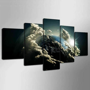 Planet Earth Abstract Five Piece Canvas Wall Art Home Decor Man Cave - The Force Gallery