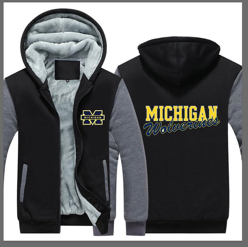 Michigan Wolverines Hoodie Jacket - The Force Gallery