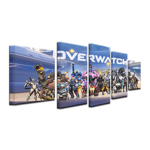 Overwatch Video Game Canvas Five Piece Wall Art Home Decor - The Force Gallery