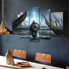 Vikings Warrior Canvas Five Piece Wall Art Home Decor - The Force Gallery