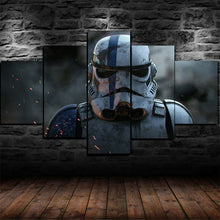 Rise of Skywalker Stormtrooper Battle Five Piece Canvas Wall Art Home Decor - The Force Gallery