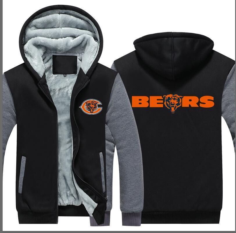 Chicago Bears Football Hoodie Jacket - The Force Gallery