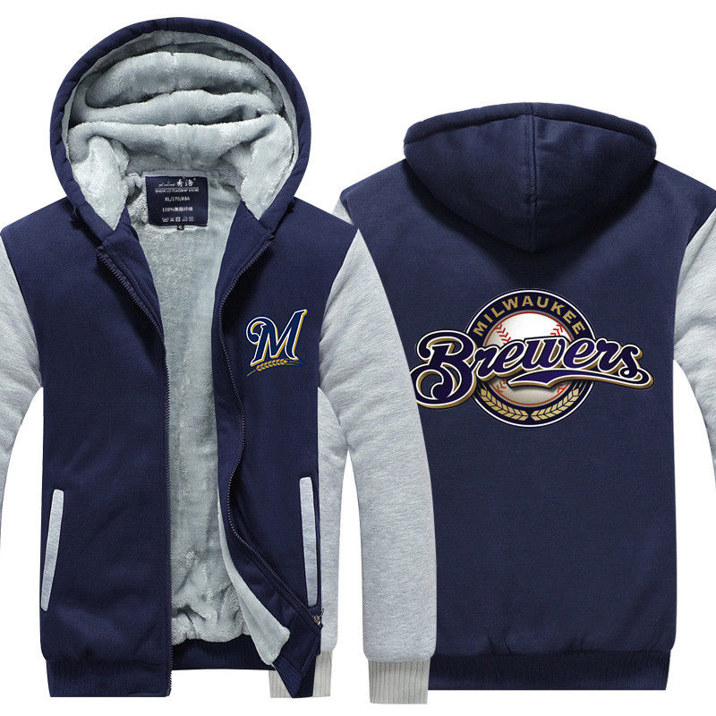 Milwaukee Brewers Baseball Hoodie Jacket - The Force Gallery