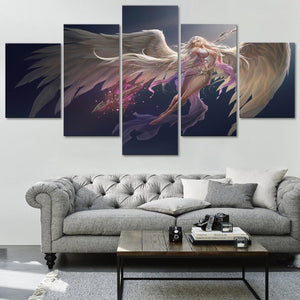 Angel Beautiful Fantasy Five Piece Large Framed Canvas Print Home Decor Art 5 - The Force Gallery
