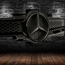 Mercedes Benz Logo Auto Car Luxury Five Piece Canvas Wall Art Home Decor Multi Panel 5 - The Force Gallery