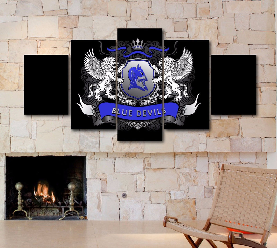 Duke Blue Devils College Five Piece Canvas Wall Art Print Home Decor - The Force Gallery