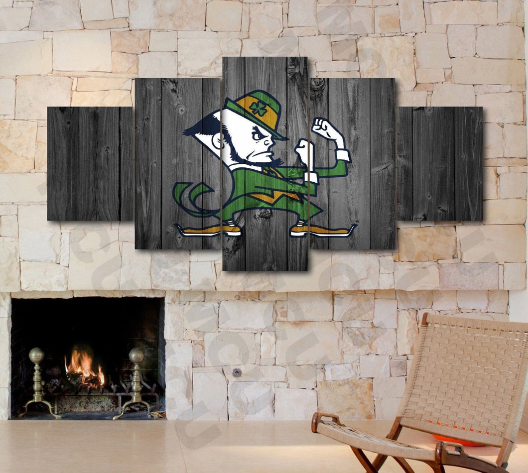 Notre Dame Fighting Irish Barn Wood Style Canvas - The Force Gallery