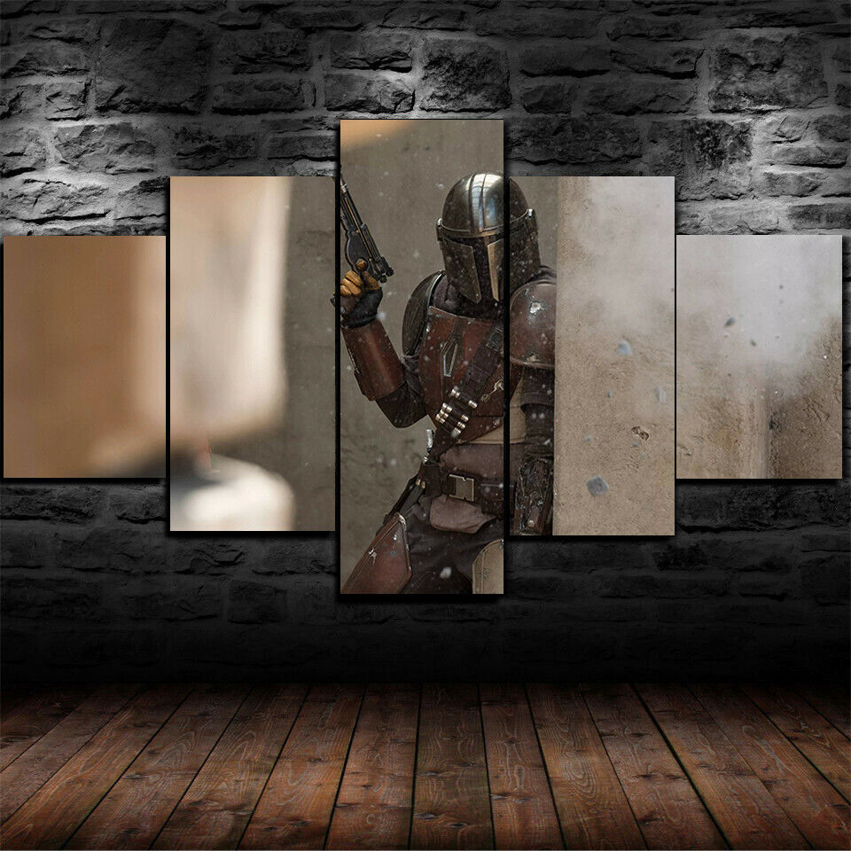 The Mandalorian Star Wars Five Piece Canvas Wall Art Home Decor Multi Panel 5 - The Force Gallery