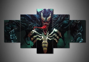 Venom Comic Movie Canvas Print Wall Home Decor Five Piece Framing Options