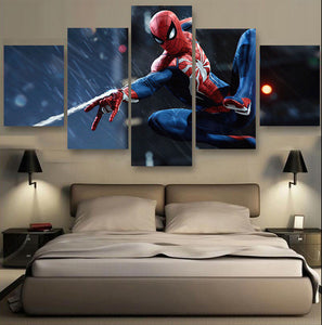 Spiderman Marvel Comics Movie Five Piece Canvas Wall Art Home Decor - The Force Gallery