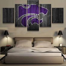 Kansas State Wildcats Barnwood Style Canvas Wall Art Home Decor - The Force Gallery