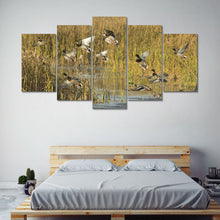 Hunting Ducks Marsh Wildlife Canvas Print Wall Art Home 5 Piece - The Force Gallery