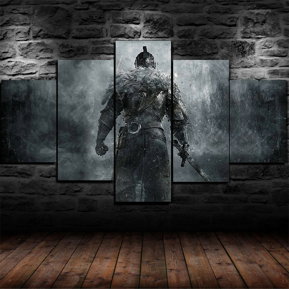 Medieval Warrior Knight Five Piece Canvas Wall Art Home Decor Multi Panel 5 - The Force Gallery
