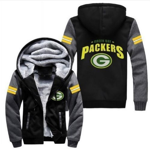 Green Bay Packets Hoodie Jacket Football - The Force Gallery