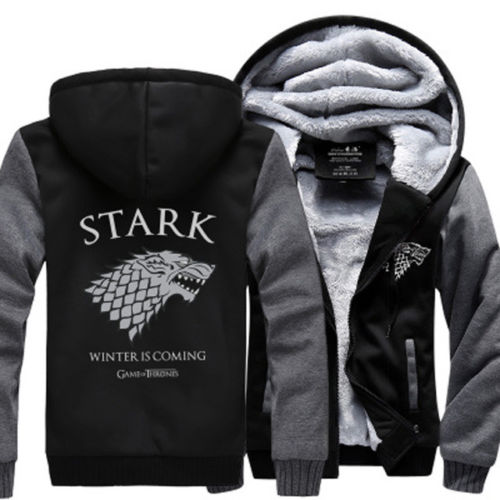 Game of Thrones House Stark Hoodie Jacket - The Force Gallery
