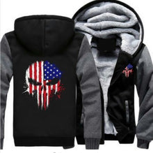 Punisher American Flag Hoodie Jacket - The Force Gallery