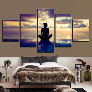 Yoga Meditation Relax Five Piece Canvas Wall Art Home Decor Multi Panel 5
