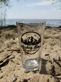 Whiskey River Trading Co. Pint Glass - 4 Pack - 16 oz