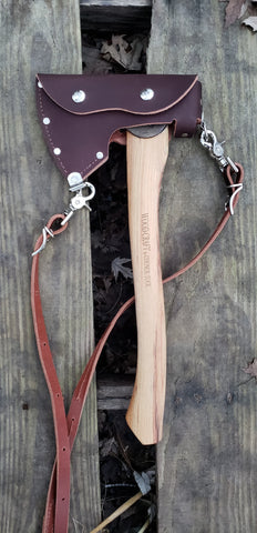 Brown Leather Sling and Sheath - Council Tool Camp Carver