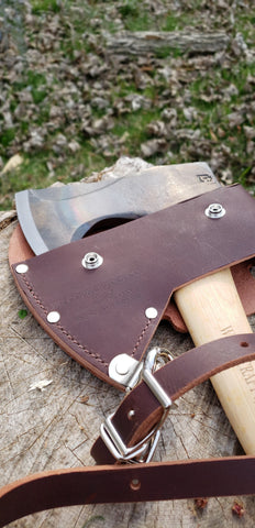 Pack Axe Brown Leather Sling and Sheath