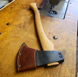 "Artisan Flying Fox - Vintage Axe Works - Red Nose Leather - 20"" Handle"