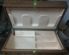 Tack Trunk w/bandage lid, brush tray/ dark walnut / FREE SHIPPING! - Greentrunksnmore