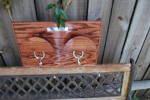 Classic Hardwood Bridle Rack -trimmed in solid hardwood beading for 2 Bridles - Greentrunksnmore