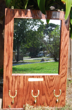 Classic Hardwood Equestrian Dress Mirror - red mahogany stain / FREE SHIPPING - Greentrunksnmore