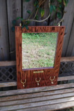 Classic Hardwood Equestrian Dress Mirror - red mahogany stain / Gloss Finish Coat