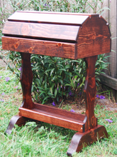 Classic Wood Saddle Stand / Red Mahogany / Free  Shipping! - Greentrunksnmore