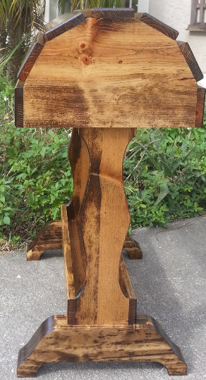 Classic Saddle Stand / Provincial Stain / Free Shipping! - Greentrunksnmore