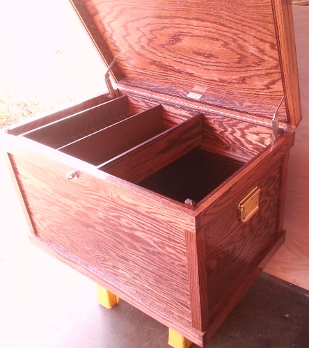 Classic Hardwood Tack Trunk Custom Show Trunk / FREE SHIPPING! - Greentrunksnmore