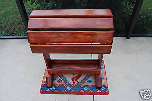 Wood Saddle Stand Mahogany Stain Showcase your English or Western Saddle