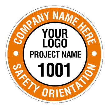Safety Orientation Numbered Hard Hat Sticker - 2 inch Circle